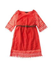 My Michelle Crochet Belt Dress - Girls 7-16