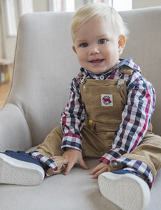 Boys Rock 2-pc. Khaki Corduroy Overall Set - Baby 12-24 Mos