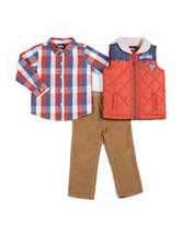 Boys Rock 3-pc. Puffer Vest & Pants Set - Baby 12-24 Mos.M