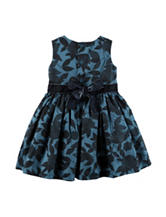 Carters® Navy Floral Print Sateen Dress - Baby 3-18 Mos.