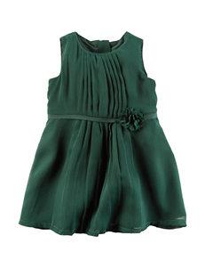 Carters® Green Chiffon Dress - Baby 3-18 Mos.