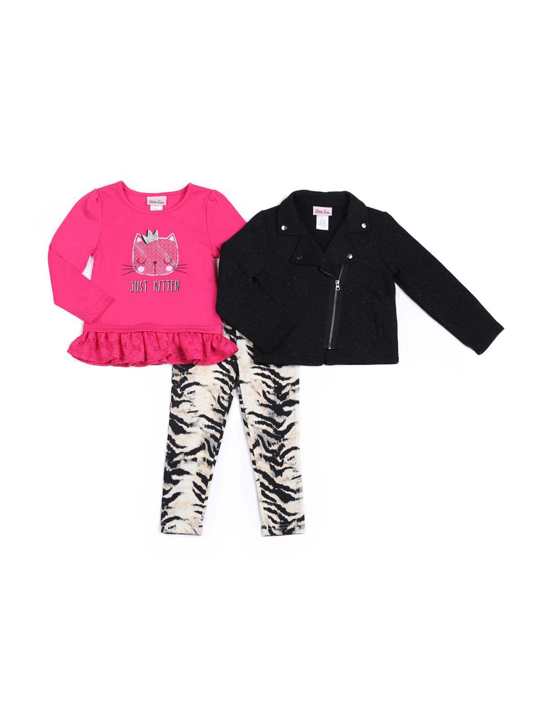 Little Lass Black / Pink