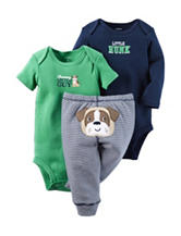 Carter's® 3-pc. Charming Bulldog Bodysuit & Pants Set - Baby 0-12 Mos.