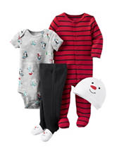 Carters® 4-pc. Snowman Layette Set – Baby 0-9 Mos.