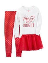 Carters® 3-pc. Merry & Bright Tutu Pajamas Set - Baby 0-24 Mos.