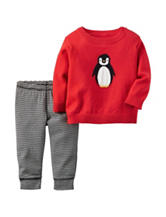 Carter's® 2-pc. Penguin Sweater & Pants Set - Baby 0-9 Mos.
