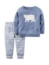Carter's® Polar Bear Sweater & Pants Set - Baby 0-9 Mos.