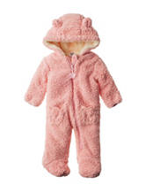 QT Baby Pink Pram Jacket with Bear Ears – Baby 3-9 Mos.