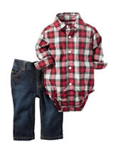 Carter's® 2-pc. Plaid Denim Set – Baby 3-12 Mos.