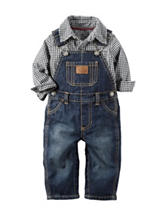 Carter's® 2-pc. Denim Overall Set - Baby 3-12 Mos.