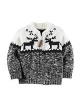 Carter's® Reindeer Zip Cardigan - Baby 3-12 Mos.