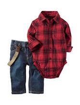 Carters® Plaid Bodysuit & Jeans Set - Baby 3-18 Mos.