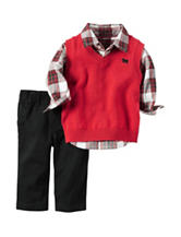 Carter's® 3-pc. Red Sweater Vest Set – Baby 3-18 Mos.