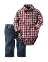 Carter's® 2-pc. Plaid Print Bodysuit & Jeans Set - Baby 3-18 Mos.