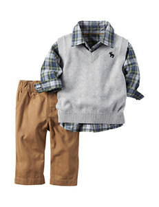 Carter's® 3-pc. Grey Sweater Vest Set – Baby 3-18 Mos.