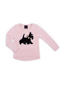 Little Lass Scotty Dog Hi-Lo Sweater - Girls 2-6x