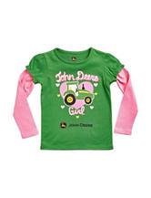 John Deere Heart Print Top - Baby 12-24 Mos.
