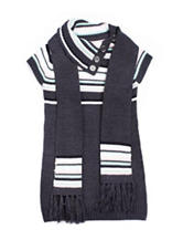 Little Lass 2-pc. Charcoal Sweater Dress & Scarf Set - Toddlers & Girls 4-6x