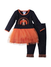 Blueberi Boulevard 2-pc. Turkey TuTu Top & Leggings Set - Baby 12-24 Mos.