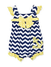 Baby Essentials Nautical Knit Romper - Baby 3-9 Mos.