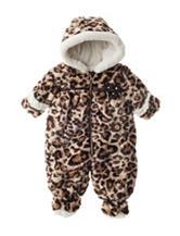 Pistachio Animal Print Faux-fur Pram - Baby 3-9 Mos.