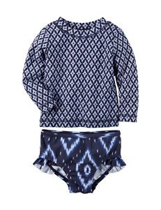 Carter's® 2-pc. Ikat Print Rashguard Swimsuit Set - Baby 0-12 Mos.