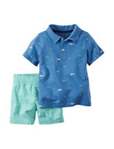 Carter's® 2-pc. Shark Polo & Shorts Set - Baby 12-24 Mos.