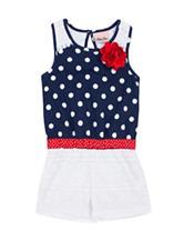 Little Lass Americana Lace Romper - Baby 12-24 Mos