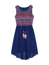 Amy Byer Multicolor Crochet Dress - Girls 7-16