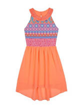 Amy Byer Hi-Lo Aztec Print Dress - Girls 7-16