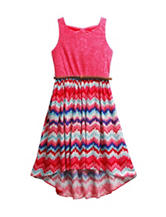 Emily West Hi-Lo Chevron Print Dress - Girls 7-16