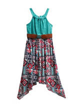Emily West Crochet Aztec Print Dress - Girls 7-16