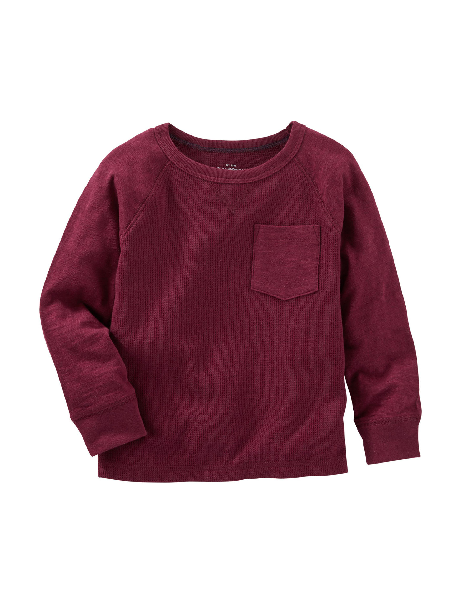 Oshkosh b 39 gosh burgundy thermal shirt boys 4 7 stage Burgundy polo shirt boys