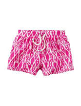 Carter's® Pink & White Ikat Print Shorts - Toddler Girls