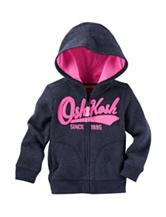 OshKosh B'gosh® Navy Logo Hoodie - Toddler Girls