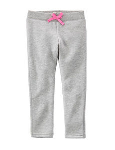 OshKosh B'gosh® Heather Grey French Terry Pants - Girls 4-8
