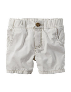 Carters® Ivory Canvas Shorts - Toddler Boys