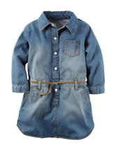 Carter's® Medium Wash Denim Belted Dress – Toddler Girls