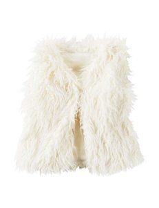 Carter's® White Faux Fur Vest - Toddler Girls