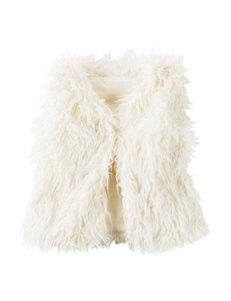 Carter's® White Faux Fur Vest - Girls 4-8