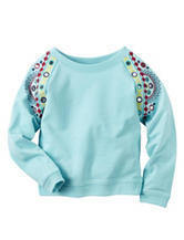 Carters® Aqua French Terry Top – Toddler Girls