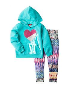 1st Kiss 2-pc. Heart Print Hoodie & Leggings Set - Toddlers & Girls 4-6x
