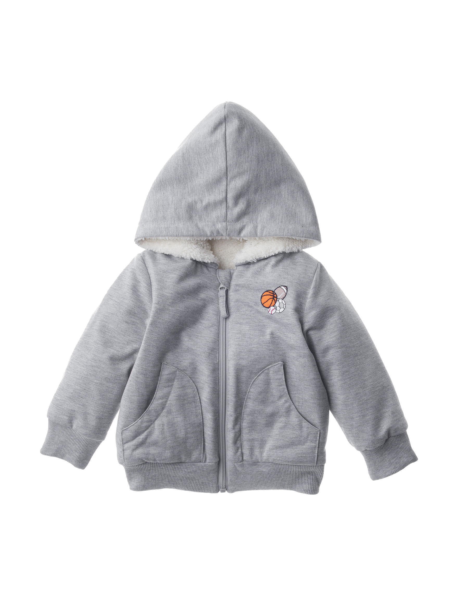 QT Baby Heather Grey Lightweight Jackets & Blazers