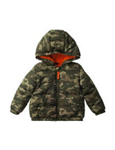 QT Baby Camouflage Print Puffer Jacket - Baby 12-24 Mos.