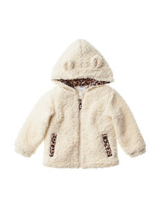 QT Baby Faux-Fur Leopard Lining Jacket - Baby 12-24 Mos.