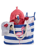 Baby Aspen Flamingo 4-pc. Nautical Gift Set - Baby 0-9 Mos.