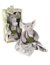 Baby Aspen  2-pc. Ekko The Elephant Plush Rattle Lovie - Baby 0-24 Mos.