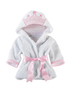 Baby Aspen Pink / White Baby Robes