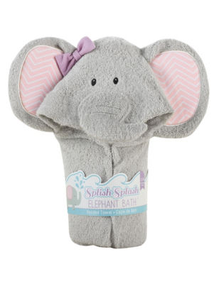 Baby Aspen Splish Splash Elephant Bath Hooded Spa Towel