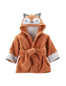Baby Aspen Dark Orange Hooded Towels